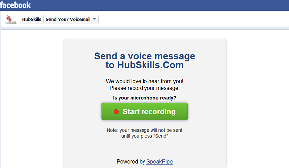 how to download voice message from facebook