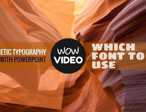 Font Selection Guide for Kinetic Typography Video with PowerPoint