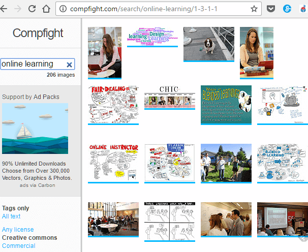 Searching Creative Commons image for 'online learning' on Compfight