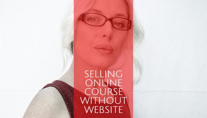 Selling online course without website