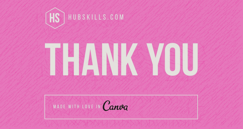 Thank you Canva